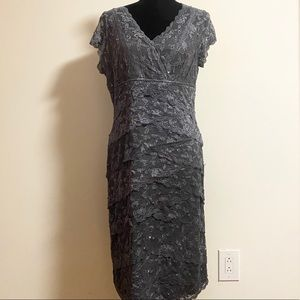 Marina grey lace sequins dress size 18